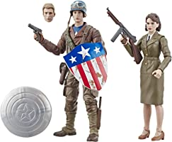 Marvel Legends Series Capitán América: El Primer Vengador, pack de 2 figuras de acción coleccionables de 15 cm de...