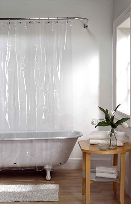 Amazon PEVA Shower Curtain Liner 70 X 72 PVC Free And Clear