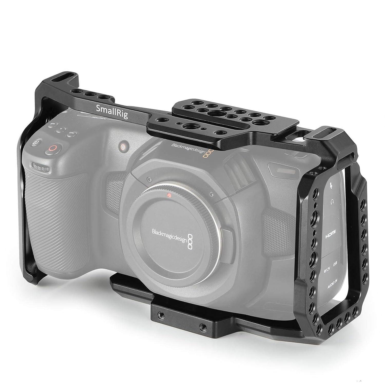 SMALLRIG BMPCC 4K Cage for Blackmagic Design Pocket Cinema Camera 4K w/Cold Shoe, NATO Rail – 2203 2203A-AU