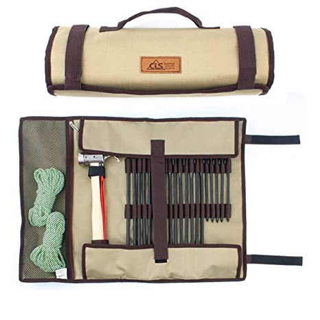 Gudelaa Tent Stakes Bag Tent Nail Storage Bag?Strong Duty Canvas Tent Stakes Pegs Holder  sc 1 st  Amazon.com & Amazon.com: Gudelaa Tent Stakes Bag Tent Nail Storage Bag?Strong ...