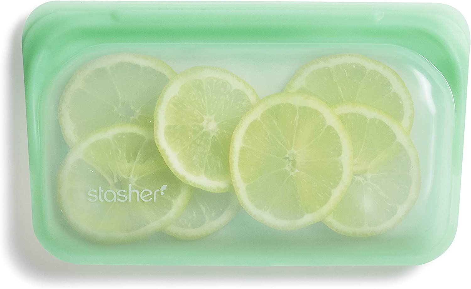 Stasher Platinum Silicone Food Grade Reusable Storage Bag, Mint (Snack) | Reduce Single-Use Plastic | Cook, Store, Sous Vide, or Freeze | Leakproof, Dishwasher-Safe, Eco-friendly, Non-Toxic | 9.9 Oz