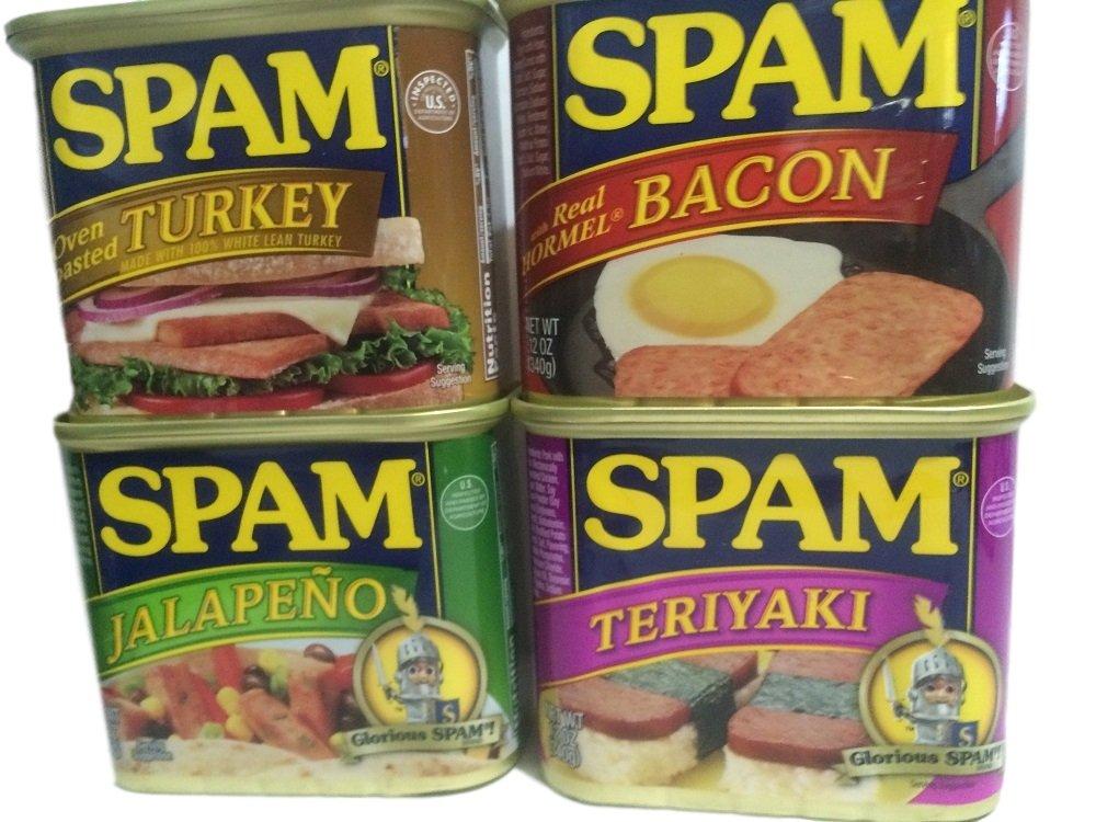 Spam Flavors Turkey, Bacon, Jalapeno, and Teriyaki 4-Pk