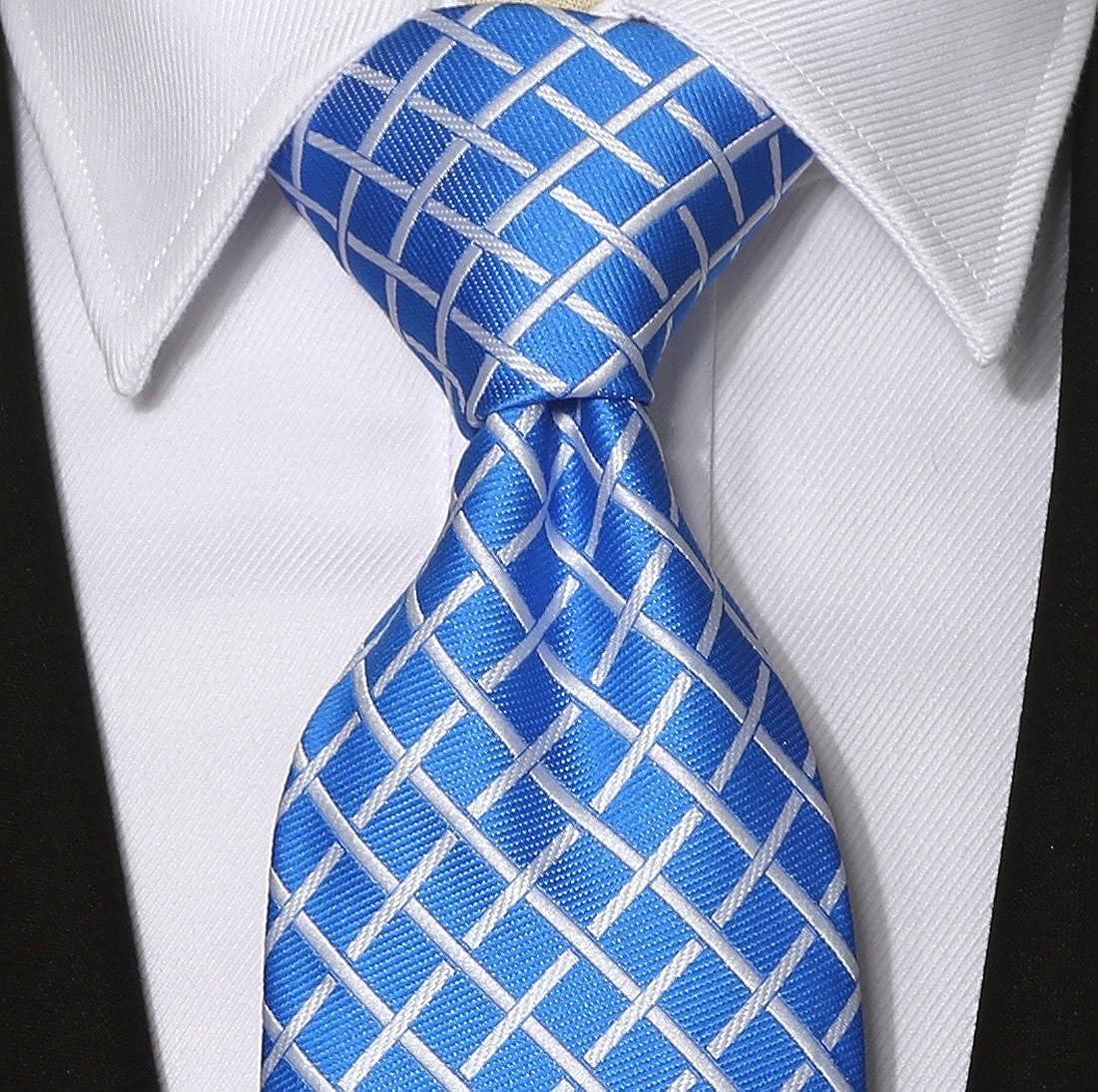 63 XL KissTies Mens Extra Long Tie Checkered Plaid Necktie Gift Box