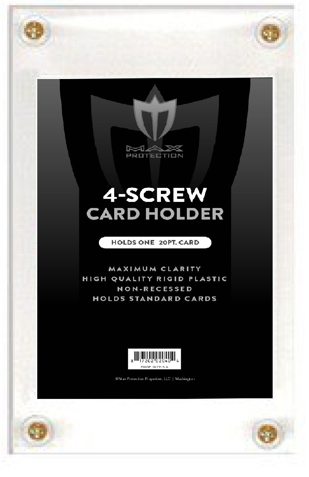 Case of 200 Max Pro Non-Recessed 4-Screw Ultra Clear Trading Card Holders by Max Protection