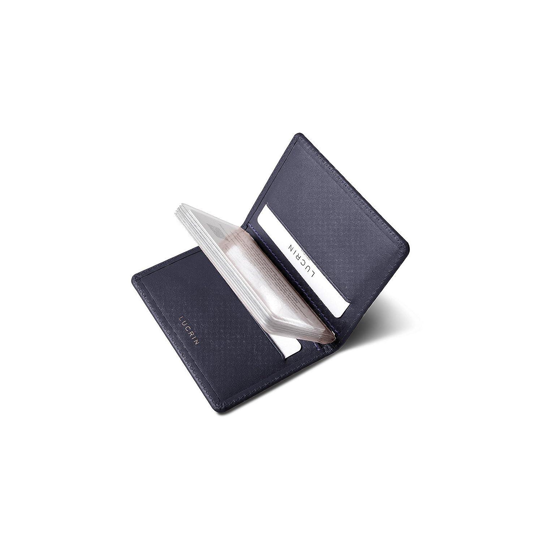 Lucrin - Étui pour Carte de Credit ou Porte-Carte Bancaire en Cuir Véritable  - Violet - Cuir Lisse  Amazon.fr  Fournitures de bureau 068360bc8f1