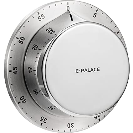 Mechanical Kitchen Timer, BBTO Alarm Sound 60 Minutes Countdown Timer,  Magnetic Backing Cooking Timer