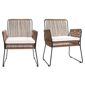 Miliboo - Lote de 2 sillones de jardín, de hilos de resina ...