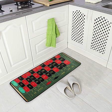 Jereee Roulette Juego de Mesa Antideslizante para Cocina, tapete de Piso de Oficina, tapete Acolchado Rectangular de poliéster para decoración del hogar, 39 x 20 Pulgadas: Amazon.es: Hogar
