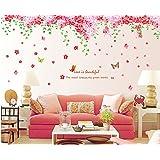 ufengke® Romantiche Farfalle Fiore di Ciliegio Adesivi Murali, Camera da Letto Soggiorno Adesivi da Parete Removibili/Stickers Murali/Decorazione Murale