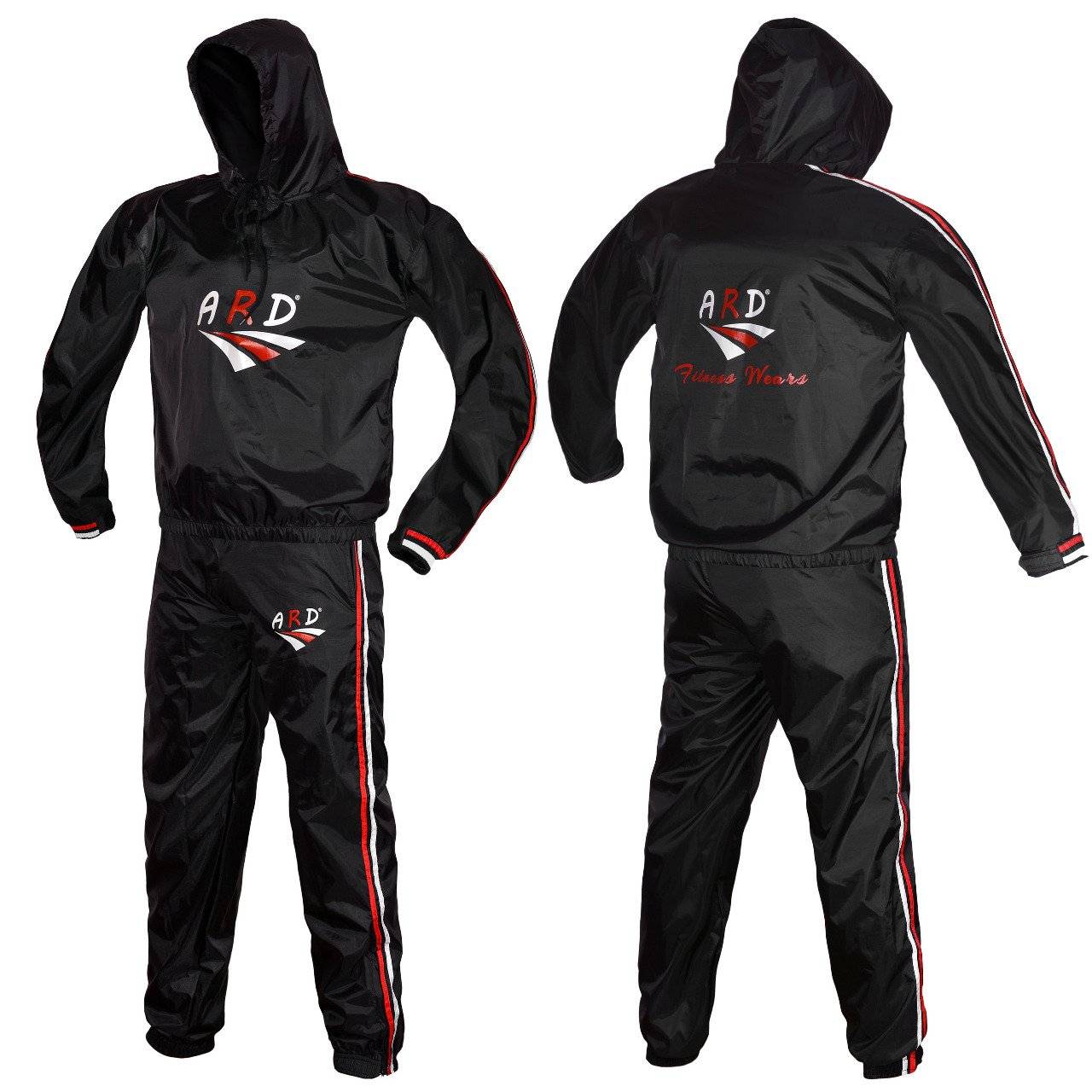 ARD Heavy Duty Sweat Suit Sauna Exercise Gym Suit Fitness, Weight Loss, Anti Rip Hooded