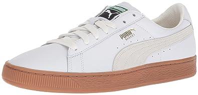 best service ac474 ce350 PUMA Men s Basket Classic Gum Deluxe Sneaker, White, ...