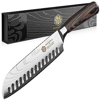 Kessaku Samurai series wood handle Santoku knife