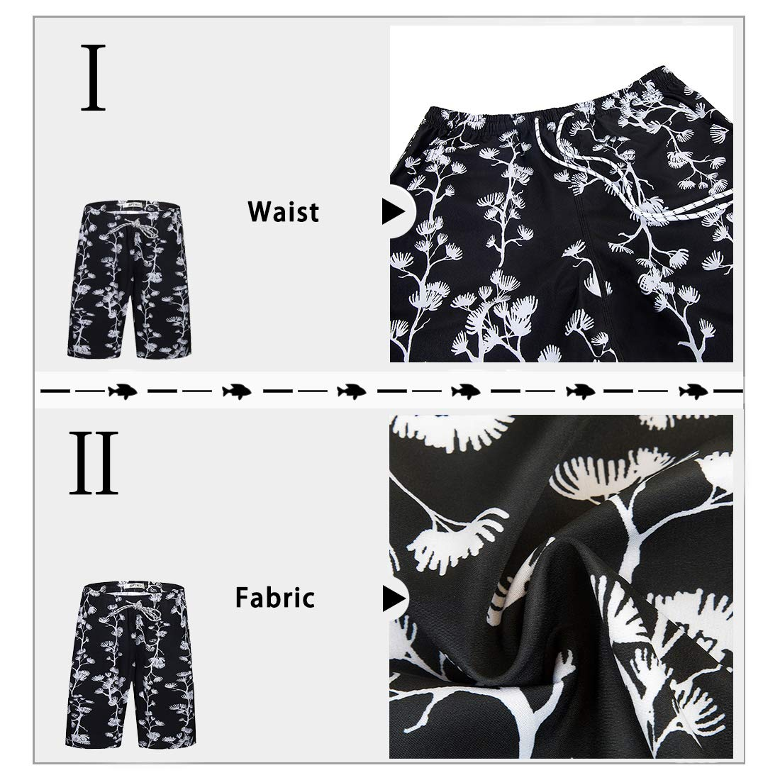 APTRO Mens Quick Dry Swim Trunks with Pockets Long Elastic Waistband Beach Board Shorts Bathing Suits