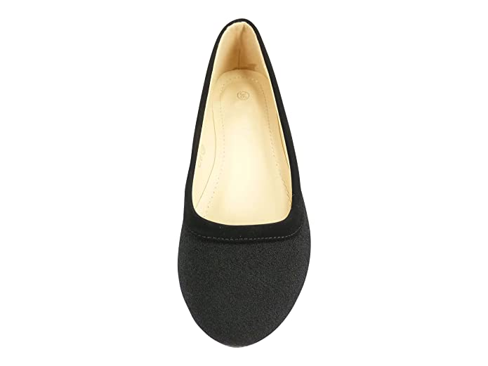 5605411d061 Ballerines plates chaussures femme casual à bout rond en tissu Noir - 38   Amazon.fr  Chaussures et Sacs
