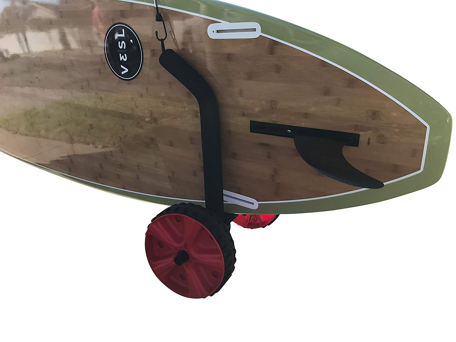 Lightweight Dolley with Easy to Use Beach Wheels Easily Adjusts for Any Sized SUP Cor Surf Adjustable Stand Up Paddleboard Cart
