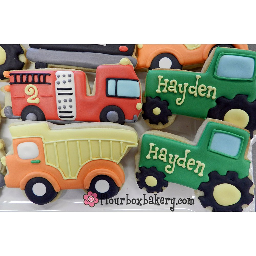 Transportation/Vehicles Cookie Cutters - 5 Piece Boxed Set - Car, Airplane, Train, Truck, Tractor - Ann Clark - US Tin Plated Steel by Ann Clark Cookie Cutters (Image #4)