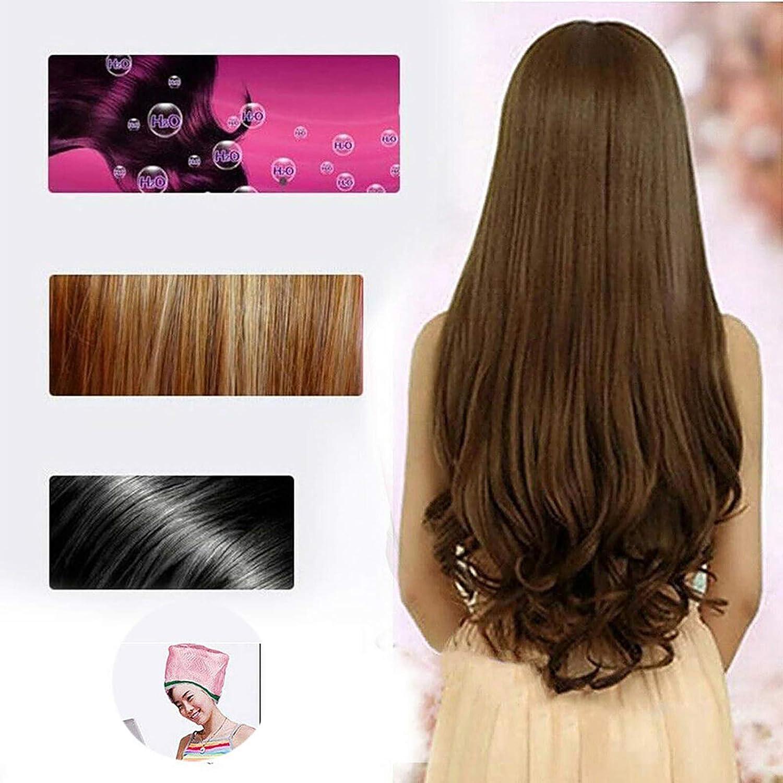SunshineFace Gorro de vapor para el cabello, nutritivo para el cabello, tratamiento térmico, 3 temperaturas, ajustable