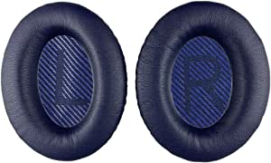 Replacement Ear-Pads Cushions for Bose QuietComfort-35 (QC-35) and QuietComfort-35 II (QC-35 II) Over-Ear Headphones (Navy Blue)