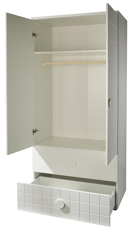 roba 45091-45073 Bett-Wickelkommoden-Kombination Cambino Play Sparset bestehen aus Kombi-Kinderbett und breite Wickelkommode