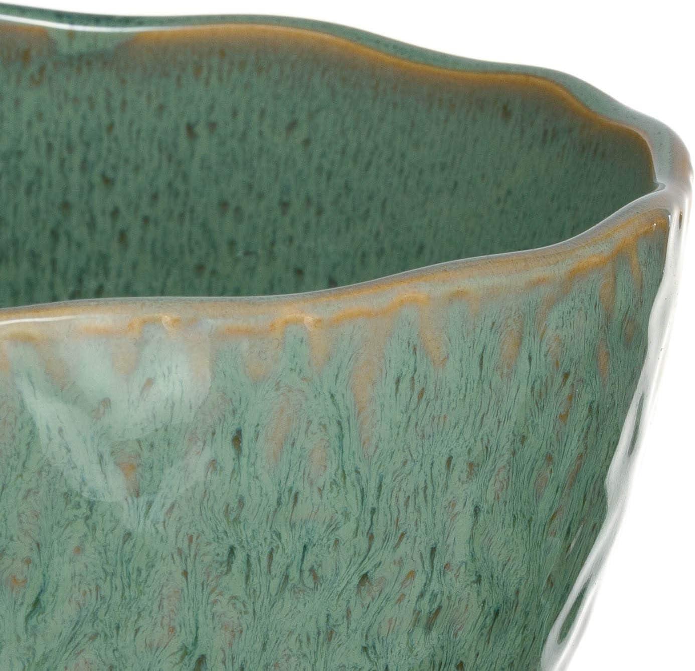sp/ülmaschinengeeignete Salat-Sch/üssel 1 St/ück grau runde Schale aus Steingut Leonardo Matera Keramik-Schale /Ø 23,5 cm 2600 ml 018584