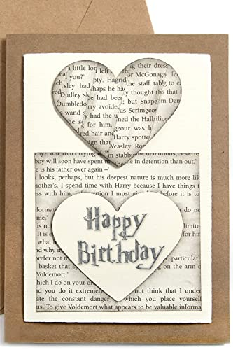 Cool Birthday Card Made From Harry Potter Book Pages Handmade Book Personalised Birthday Cards Paralily Jamesorg