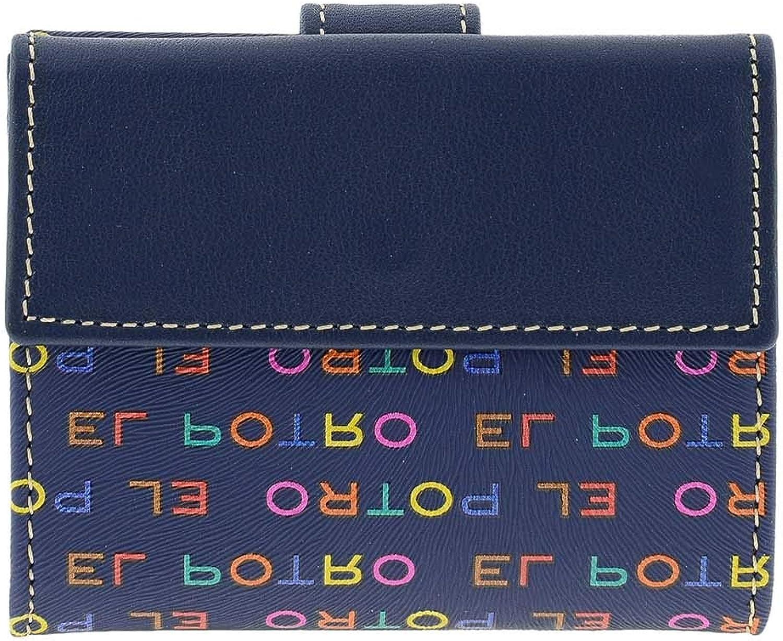El Potro 1112 Multicolor Monedero Billetero Tarjetero en Lona y Piel para Mujer