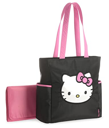 3ef3bdeab4 Amazon.com   Hello Kitty Tall Applique Diaper Tote Bag   Baby