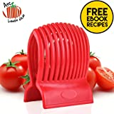 CHRISTMAS GIFT Arc Tomato Slicer (TM) -Amazingly Accurate Tomato Slicer with Firm Grip System -Super Safe and Durable ABS Material -Super Time Saver with Ergonomic Design -Up to 13 Slices -Vibrant Red