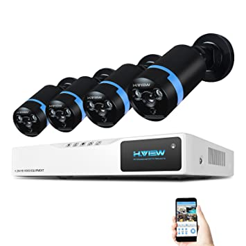 H.View 1080p Home sistema de CCTV, vigilancia DVR Kit grabador de 4 canales, ...
