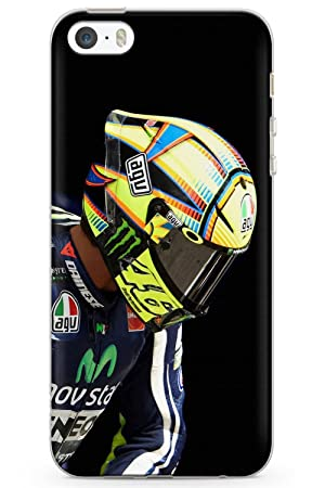 iPhone 5 / 5s / SE Valentino Rossi Casco Funda de Teléfono de Goma Cover The