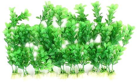 sourcingmap Acuario Paisajismo Agua Plantas Hierba Decoración, 8,3 pulgadas, Verde