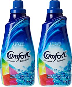 Comfort Concentrated Fabric Softener Iris & Jasmine, 1.5L (Pack of 2)
