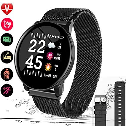 Fitness Tracker Watch, Heart Watch Monitor With Blood Pressure, Smart Watch Smartwatch Fitness Activity Tracker, Touch Screen, Sleep Tracker, Step ...