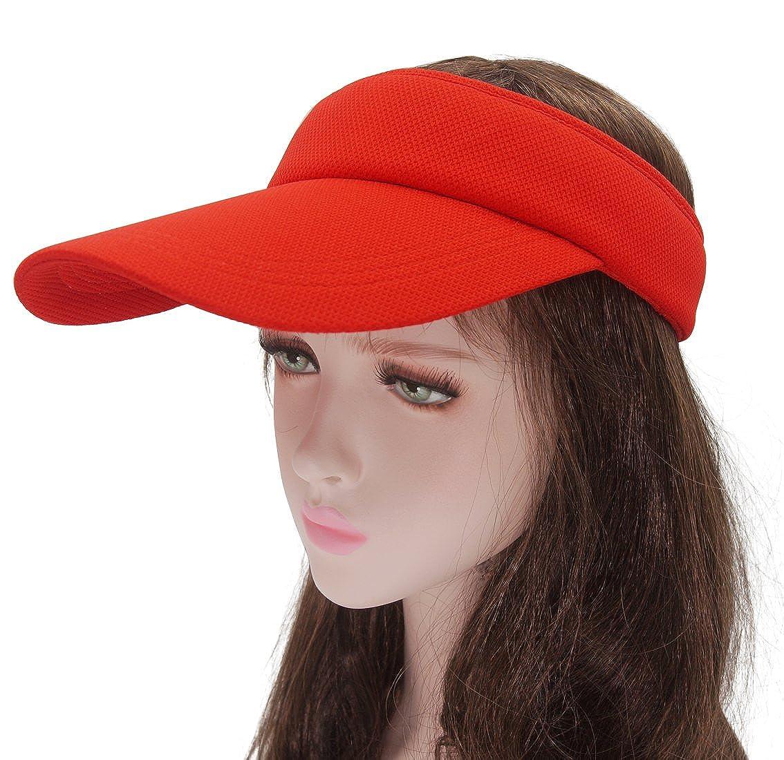 Roffatide Women's Sun Visor Men's Empty Top Summer Hat Outdoor Sports RT7002-3