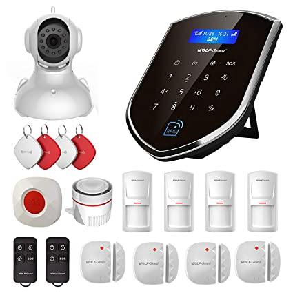 Wolf-Guard DIY Intelligent Home Alarm System with Camera, Door Window Sensor,Motion