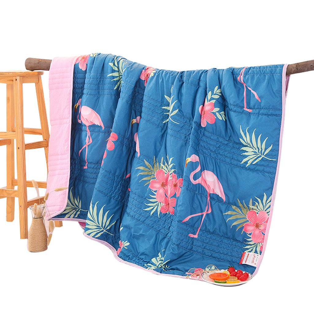 Cotton Washed Cotton Summer Cool Washable air Conditioner Bedding Cotton Summer (Color : Blue, Size : 150200cm)