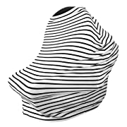 ZAVAbaby Baby Car Seat Cover, Breastfeeding for Girls & Boys - Nursing Cover, Canopy, Stroller, Shopping Cart, Carseat Covers Privacy and Protection for Your Baby - Best Multi-Use Stretchy Cover