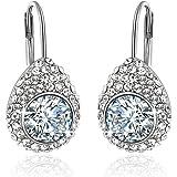 YELLOW CHIMES Swarovski Elements Princess Cut Earrings for Women