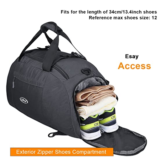 789eff5c3f Amazon.com  G4Free 3-Way Travel Duffel Backpack Luggage Gym Sports Bag with  Shoe Compartment (Black)  Sports   Outdoors