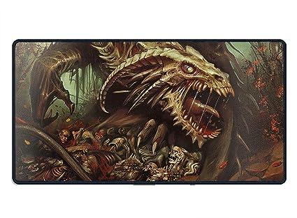 amazon com mouse pad dark death dragon skeleton evil printed