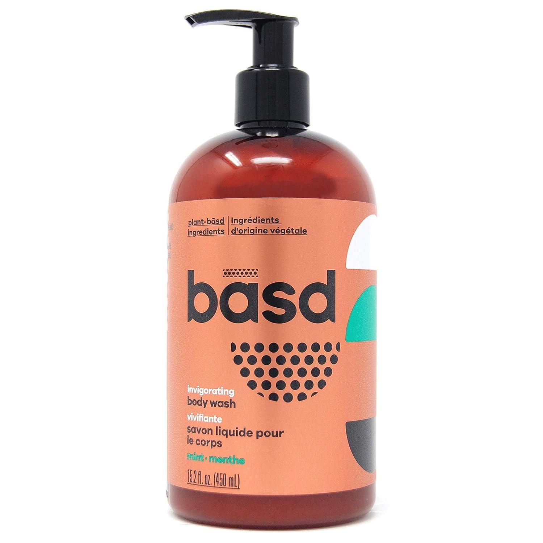 Basd Body Wash, Invigorating Mint, 15.2 Ounce Bottle