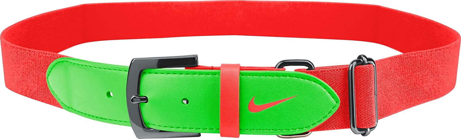 d7dba3f703b38c Amazon.com : Nike Youth Baseball Belt 2.0 (Orange/Green, OneSizeFitsMost) :  Sports & Outdoors