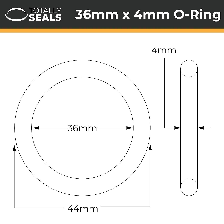 verschiedene Packungsgr/ö/ßen 44 mm Au/ßendurchmesser O-Ringe aus Nitrilkautschuk 36 mm x 4 mm 70A Shore H/ärte