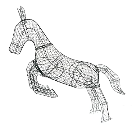 Amazon.com: Galloping Horse 62 inches high x 65 inches long x 16 ...