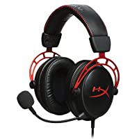 HyperX Cloud Alpha - Gaming Headset, Dual Chamber Drivers, Award Winning Comfort, Durable Aluminum Frame, Detachable Microphone, Works on PC, PS4, Xbox One, Nintendo Switch, and Mobile Devices – Red