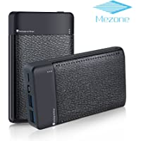 MEZONE 6000mAh Portable Power Bank with 2 USB Charging Ports (Black, Hot Pink, White)