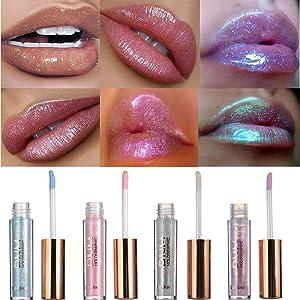 Kisshine Liquid Lipstick Moisturized Lipgloss Party Shimmery Lipglaze Long Lasting Shiny Lips Cosmetics Makeup Gift for Women and Girls Pack of 1 (Gold 01#)