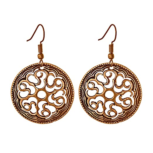 Amazon Kolovrat The Solar Pagan Symbol Earrings Old Russian