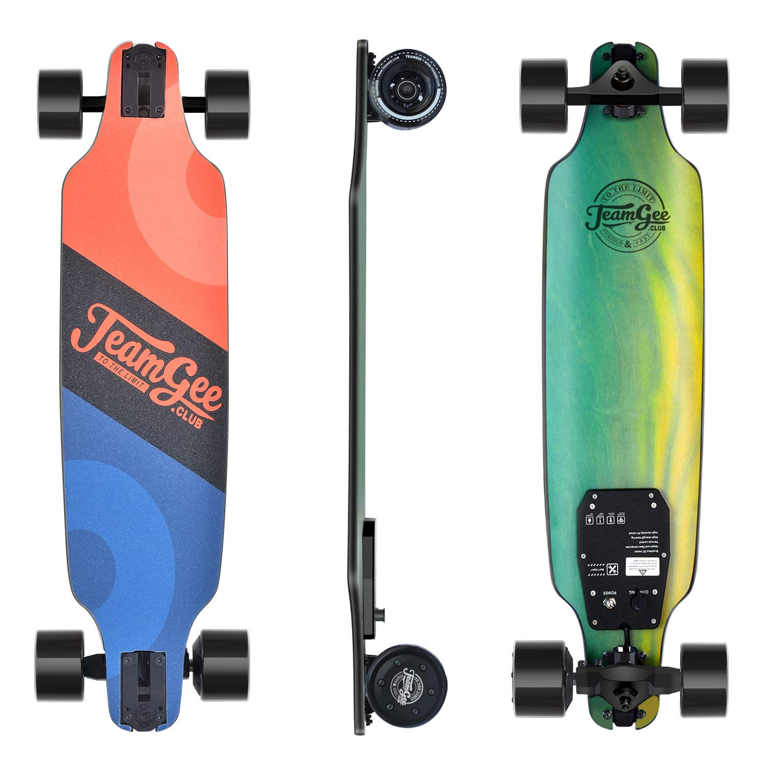 teamgee H8 31'' Electric Skateboard, 15 MPH Top Speed, 480W Motor, 8 Miles Range, 11.6 Lbs, 10 Layers Maple Longboard with Wireless Remote Control