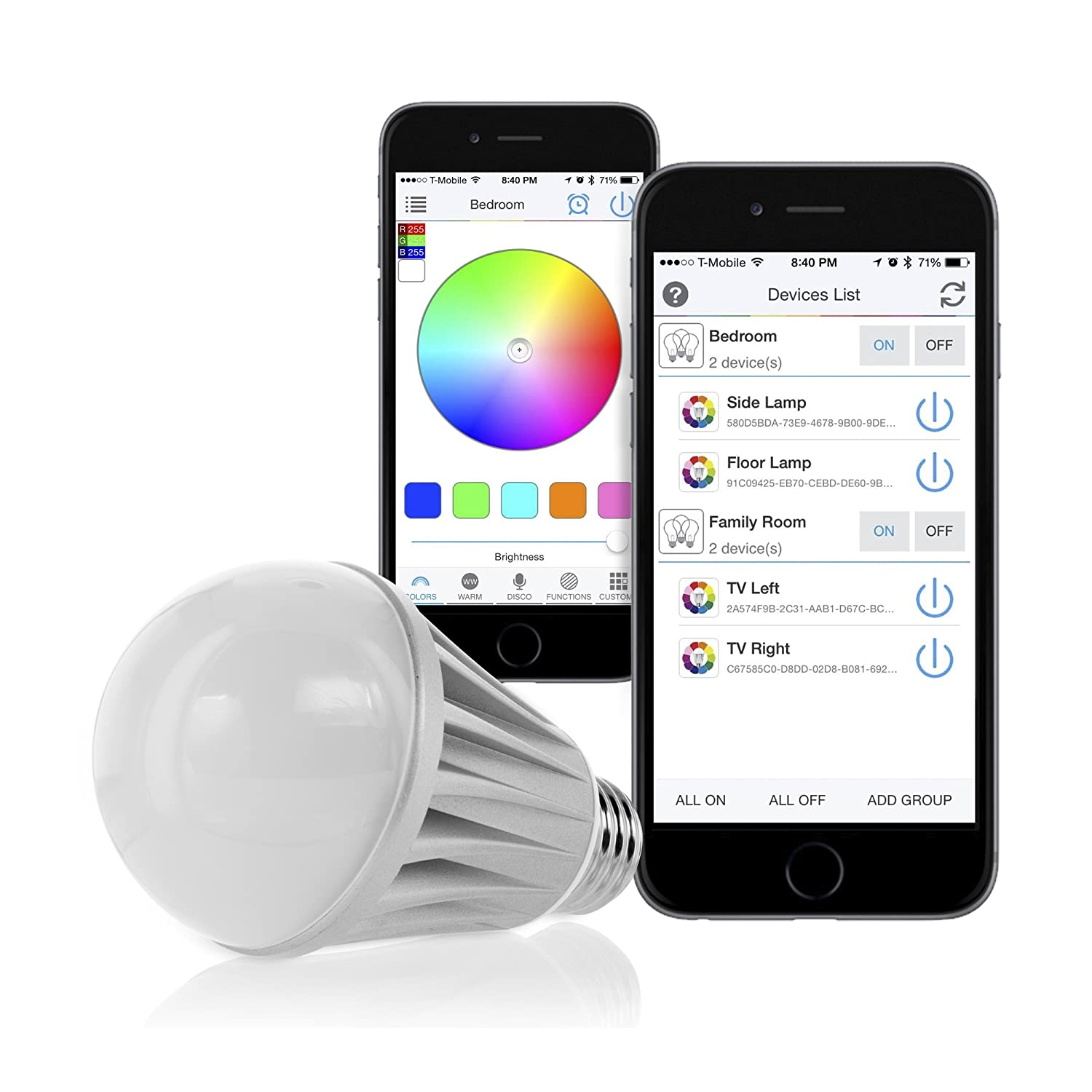 Flux Bluetooth LED Smart Bulb - Wireless Multi Color Changing Light For  Kitchen, Bedroom- App Controlled Sunrise Wake Up Light - Sunset Sleeping  Light ...